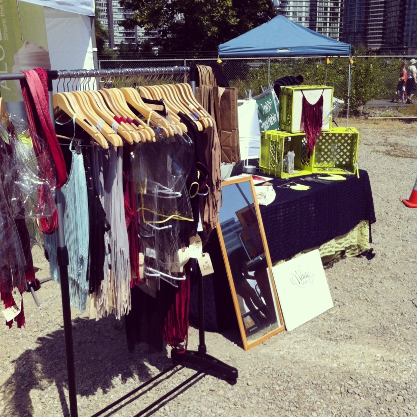Booth set up at the Food Cart Fest