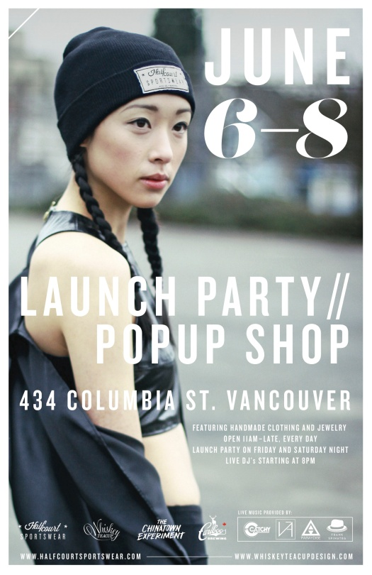 Halfcourt Sportswear and Whiskey Teacup Popup shop// Launch party!